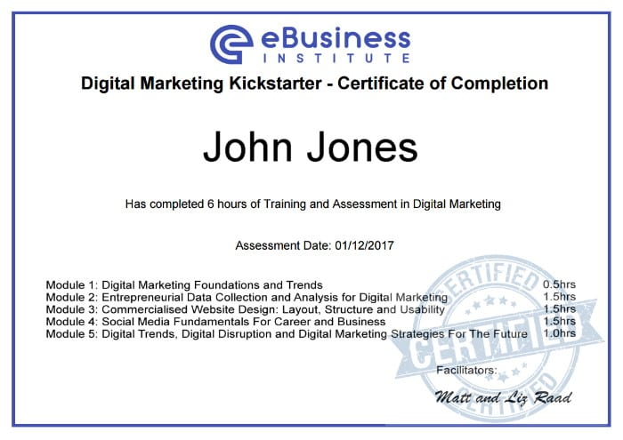 web design certificate online