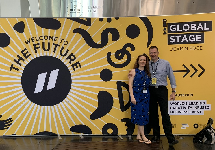 Matt and Liz Raad at Pause Fest Digital Business Growth Conference Melbourne 2019