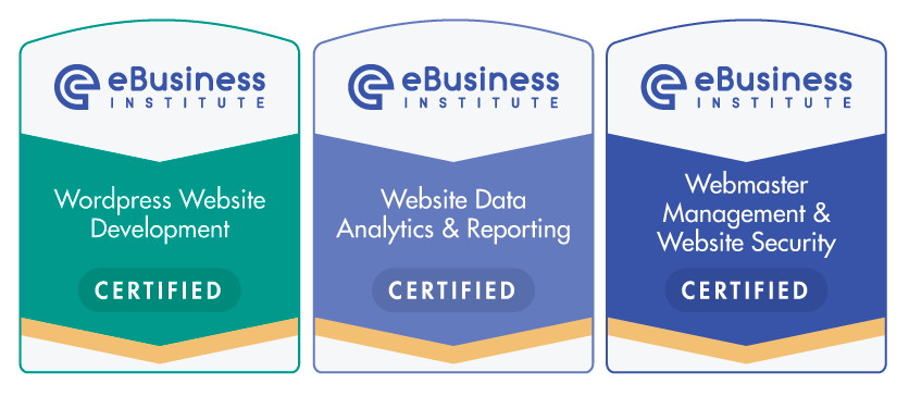 Ebusiness Institute website design certification course