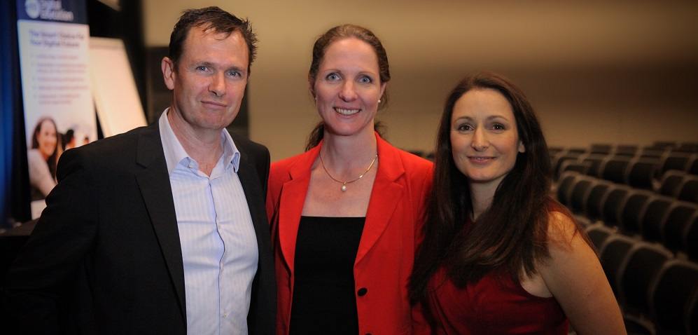 Jeanette Jifkins with Matt and Liz Raad  at E-Business Digital marketing workshop