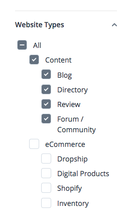 Search for Content Websites on Flippa